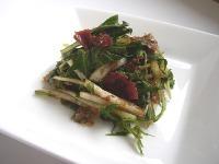水菜の熊野梅とおかか和え